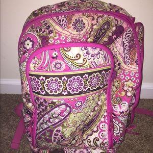 Vera Bradley Paisley Laptop Backpack EUC